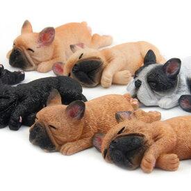 フレブル マグネット 伏せ 横向き 置物 インテリア 犬 各種 雑貨 グッズ ポリレジン 犬屋