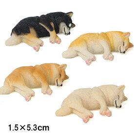 柴犬 ネムネム ミニミニ マグネット 横向き 置物 インテリア 犬 各種 雑貨 グッズ ポリレジン 犬屋