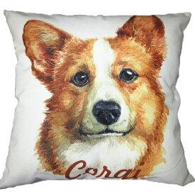 【あす楽】 クッション カバー と本体セット 45×45cm コーギー 【A】 雑貨 グッズ kingdogs 犬屋 いぬや コーギークッション