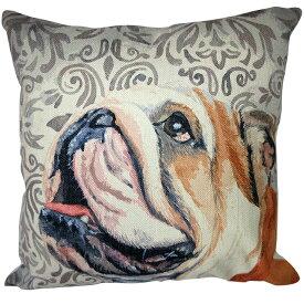 【あす楽】 クッション カバー と本体セット 45×45cm ブルドッグ【D】 雑貨 グッズ kingdogs 犬屋 いぬや