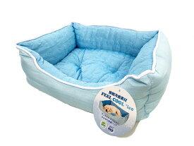 ひんやり フィール クール アイス ベッド スクウェア Sサイズ ブルー 小型犬 猫 犬 夏 ペット用品 冷感マット 【FCBD2062】 犬屋