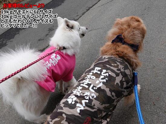 おもしろコメント犬服Tシャツ3L〜7Lサイズ中型犬ドッグウェア犬屋いぬや
