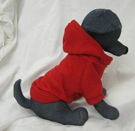 【アウトレット】 ボタンタイプ 犬 服 無地パーカー 【4XL〜7XLサイズ】 秋冬 犬屋 オリジナル デザイン