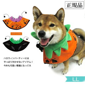 かぼちゃ LL[3164] ハロウィン 犬 ケープ コスプレ リバーシブル ポンポリース ペット衣装 マント 犬屋【送料無料】