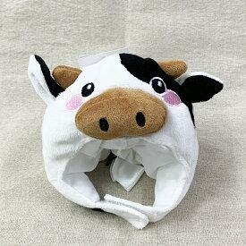 牛 LL(犬 帽子 キャップ かぶりもの コスプレ 小型犬 うし ウシ)グッズ 犬屋 トイプードル シーズー シュナウザー 柴犬など かぶり帽