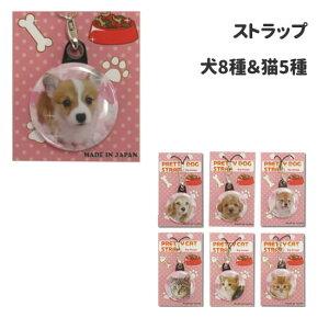 (犬屋 いぬやオリジナル)犬&猫ストラップ 全13種類 (コーギー ヨーキー ダックス 柴犬 ゴールデンレトリバー)