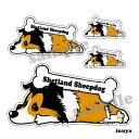 シェットランドシープドッグ 犬 ステッカー くたいぬデザイン 犬屋