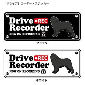 ドッグシルエット ドライブレコーダー ステッカー ニューファンドランド 3枚入1セット 犬 ドラレコ シール 犬屋 いぬや