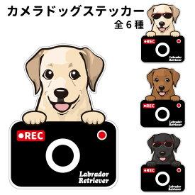 ラブラドールレトリバー ステッカー カメラドッグ 犬 犬屋 いぬや ドライブレコーダー