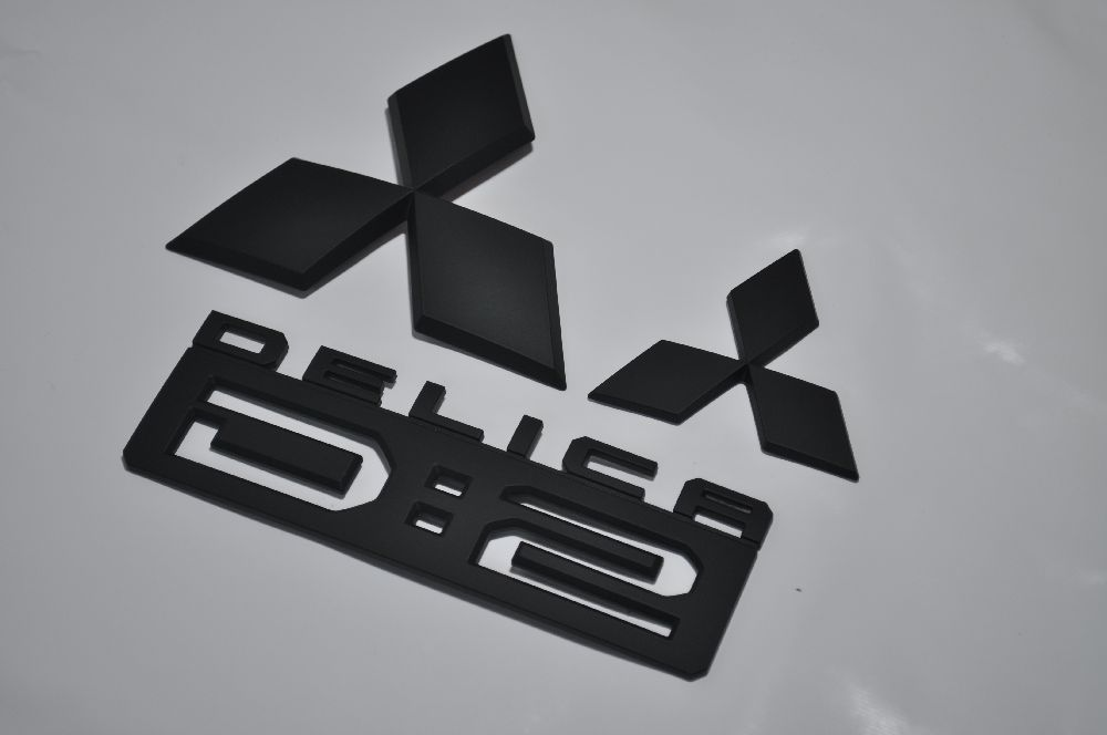 ◆◆MB15系デリカD2 マットブラックエンブレム(艶消し) 3点SET【送料無料】 純正/メッキ/艶消し/黒/セット/単品/車/車パーツ/カーパーツ/高品質