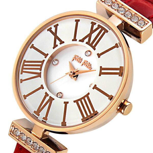 【期間限定】【ポイント2倍】(10/20 10:00〜10/23 09:59) フォリフォリ FOLLI FOLLIE ミニ ダイナスティ クオーツ 腕時計 WF13B014SSWRE レディース