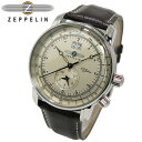 【ポイント2倍】(〜5/25 01:59) ツェッペリン ZEPPELIN 100周年 記念モデル LZ1 クォーツ 腕時計 7640-1 メンズ