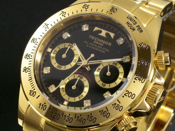 【期間限定】【ポイント2倍】(6/14 20:00〜6/21 01:59) テクノス TECHNOS クロノグラフ 腕時計 TGM639GB メンズ