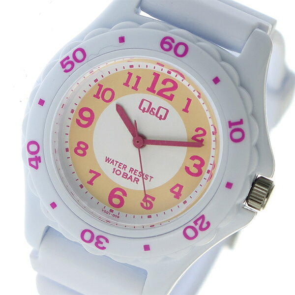 【期間限定】【ポイント2倍】(1/19 10:00〜1/22 09:59) シチズン CITIZEN キューアンドキュー Q&Q 10気圧防水 腕時計 VS01-009 オレンジ×ピンク ホワイト ユニセックス