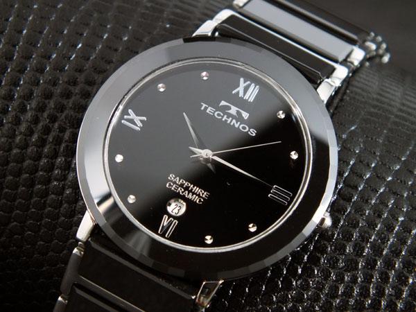 【今月特価】【ポイント5倍】(〜6/30) テクノス TECHNOS セラミック 腕時計 T9120TB メンズ
