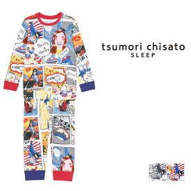 【50%OFF】ワコール ツモリチサト アメコミ キッズパジャマ 上下セット ロング袖ロングパンツ キッズパジャマ 全2色 4-8 UER305