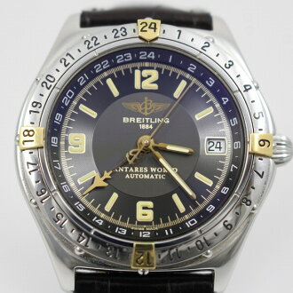 Blight ring Antares world GMT men self-winding watch gray clockface outside a company building belt, pure buckle B32047