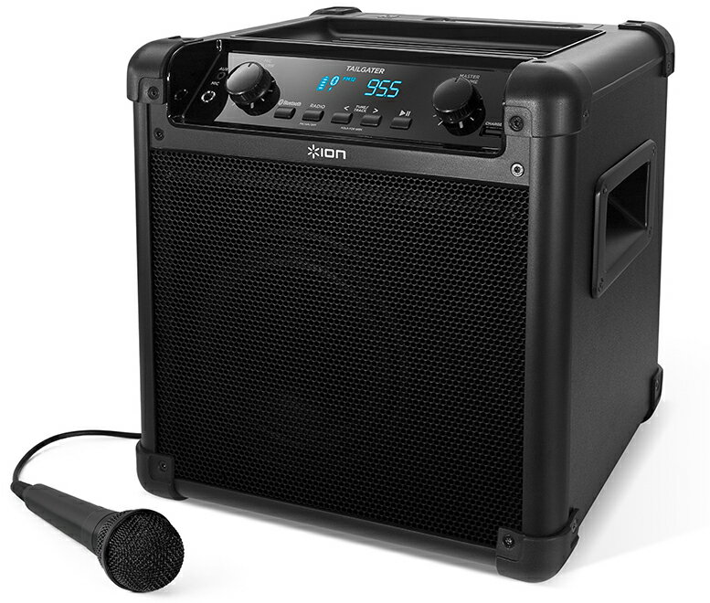 【公式 / 送料無料】ION Audio ポータブル PAスピーカー 50時間バッテリー マイク 付き Bluetooth 対応 AM/FMラジオ スマホ充電可能 Tailgater