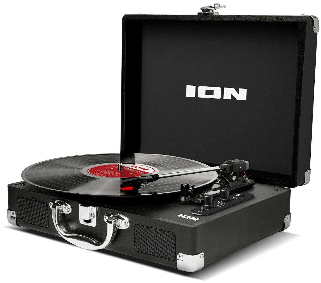 【公式 / 送料無料】ION Audio ポータブル・スーツケース型Bluetooth対応レコードプレーヤー Vinyl Motion Air【数量限定品】