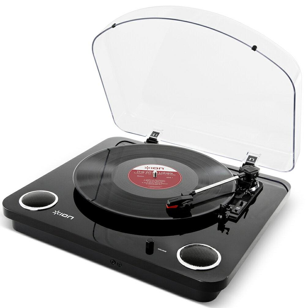 【公式 / 送料無料】ION Audio レコードプレーヤー USB・ヘッドフォン端子付き スピーカー内蔵 ピアノブラック Max LP