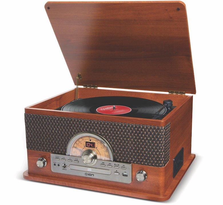 【公式 / 送料無料】ION Audio レトロ調 ミュージックプレーヤー 7種再生【レコード、カセット、CD、ラジオ、USB、Bluetooth、外部入力】 Superior LP