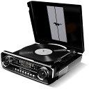 【公式 / 送料無料】ION Audio レコードプレーヤー 1965年製フォード マスタング デザイン 4種再生可能【レコード、ラジオ、USB、外部…