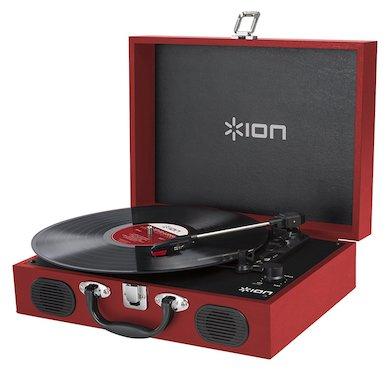 10%OFF!【公式 / 送料無料】ION Audio スピーカー内蔵 スーツケース型レコードプレーヤー Vinyl Transport レッド
