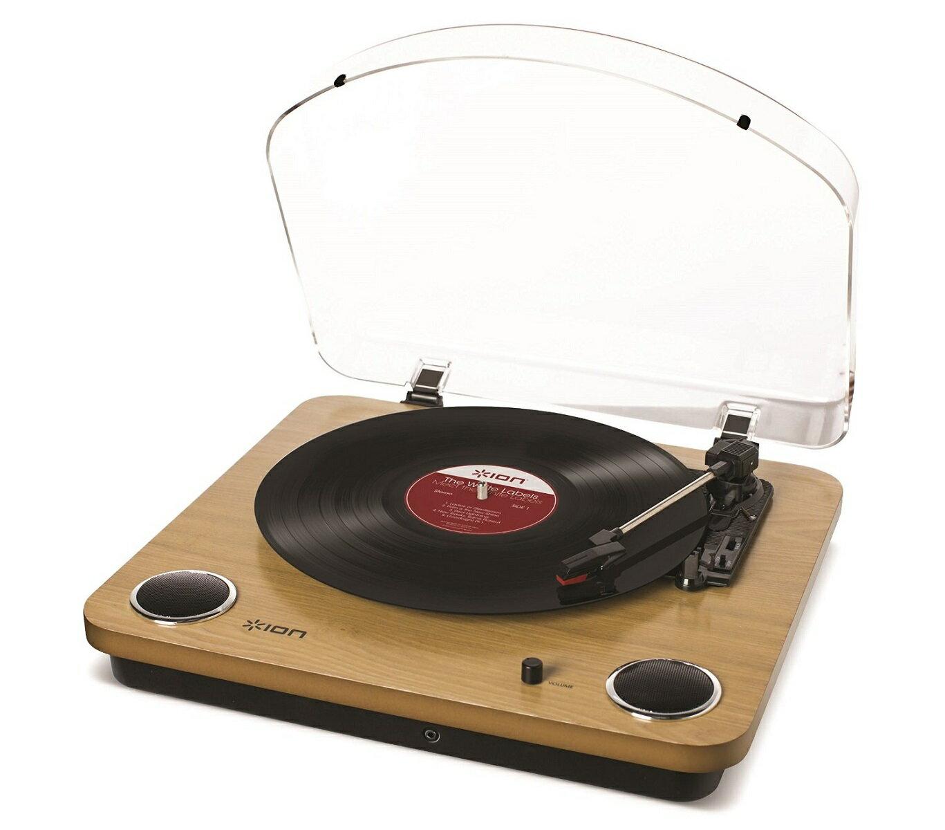 【公式 / 送料無料】ION Audio レコードプレーヤー USB・ヘッドフォン端子付き スピーカー内蔵 天然木 Max LP
