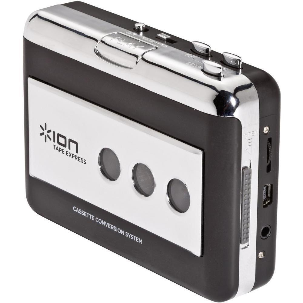 【公式 / 送料無料】ION Audio USBケーブル付 ポータブル・カセットテーププレーヤー デジタル化変換器 Tape Express