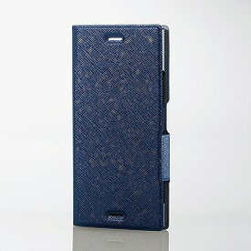 Xperia XZ1/ソフトレザーカバー/薄型/磁石/イタリアン(Coronet)/ネイビー エレコム PM-XZ1PLFILNV
