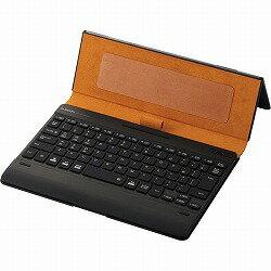 Bluetoothキーボード/ケース一体型/無段階角度調整/マルチペアリング対応/バックライト/ヴィーガンレザー/汎用/ブルー エレコム TK-CAP03BU