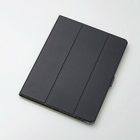 iPad Pro 12.9インチ 2018年モデル/フラップカバー/ソフトレザー/360度回転/スリープ対応/ブラック エレコム TB-A18LWVSMBK