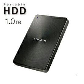 【送料無料】アイ・オー・データ機器 アイオーデータ IODATA HDPX-UTC1K USB 3.1 Gen1 Type-C ポータブルハードディスク アルミボディ HDD 1TB ブラック