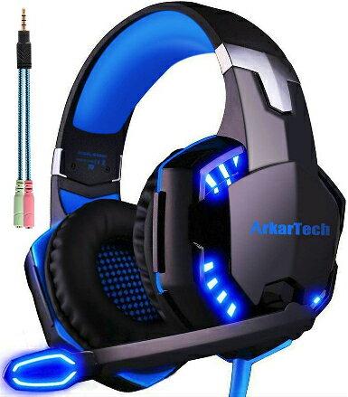 ゲーミング ヘッドセット ヘッドホン ヘッドフォンARKARTECH ゲームヘッドセット マイク付き ゲーム用 PC パソコン スカイプ fps 対応 男女兼用 プレゼント G2000