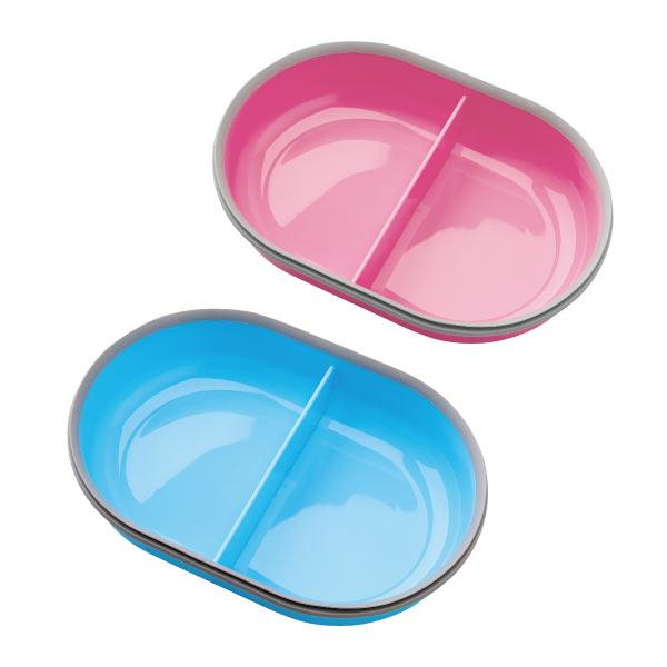 シュアーフィーダー/シュアーフィーダーマイクロチップ 専用しきり付きボウル単品(ピンク/ブルー)