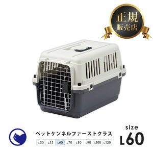 【OFT】ペットケンネル・ファーストクラス L60【外寸】幅40×奥60.5×高40.5cm 本体重量(約):3kg[おすすめ クレート ランキング 大きめ 飛行機 小型犬 中型犬 多頭用 ハードキャリー コンテナ ク