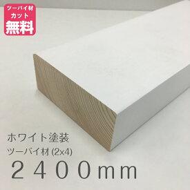 ホワイト塗装済みツーバイフォー材(2x4)約38ミリ X 89ミリ X 2400ミリ LABRICO(ラブリコ)/ディアウォール/ウォリスト用