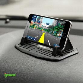【改良型】【送料無料】ipow 車載ホルダー シリコン 滑り止め スマートフォンホルダー 卓上 スマホスタンド スマホホルダー iPhone/Xperia/Galaxy/AQUOS/Nexus/富士通 など カーナビ 車用滑り防止マット ダッシュボードに設置