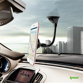 【送料無料】ipow 車載ホルダー マグネット 磁石式 真空吸盤車載ホルダー スマホスタンド HUAWEI P20 lite iPhone8plus iPhone XS Max Xperia XZ3 スマホ ホルダー 車載 ウインドウカラスに取付
