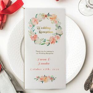 結婚式 席次表 手作りキット ペールピンク リース