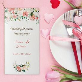結婚式 席次表 手作りキット ペールピンク アーチ