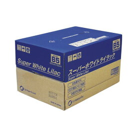 (まとめ) 王子製紙 スーパーホワイトライラック SWLB5 500枚×10冊入 【×2セット】 送料込!