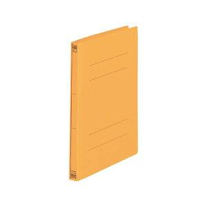 (まとめ) プラス フラットファイルA4S No.021N オレンジ【×30セット】
