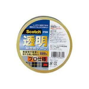 (業務用100セット) スリーエム 3M 透明梱包用テープ 375SN 送料込!