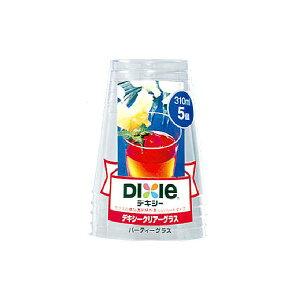 (まとめ)日本デキシー 透明プラスチックカップ クリアーグラス(パーティー) 310ml 5個 【×5点セット】 送料込!