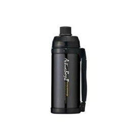 魔法瓶構造 スポーツボトル/水筒 【保冷専用 ブラック】 1L 直飲みタイプ ハンドル付き 『アクティブボーイ2』