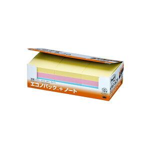 (まとめ) 3M ポストイット エコノパック ノート 再生紙 75×50mm 混色 6561-K20 1パック(12冊) 【×2セット】 送料込!