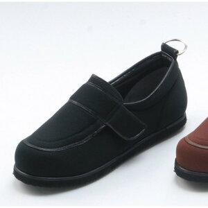 介護靴/リハビリシューズ ブラック(黒) LK-1(外履き) 【片足23cm】 3E 左右同形状 手洗い可/撥水 (歩行補助用品) 日本製 送料込!