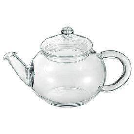 シンプル ティーポット/キッチン用品 【390ml】 耐熱ガラス製 『アサヒ』 〔台所 キッチン〕