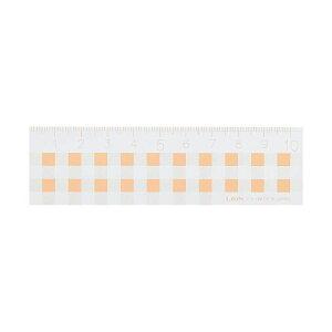 (まとめ) ライオン事務器 ギンガムチェック定規10cm オレンジ C-3 1本 【×50セット】 送料無料!